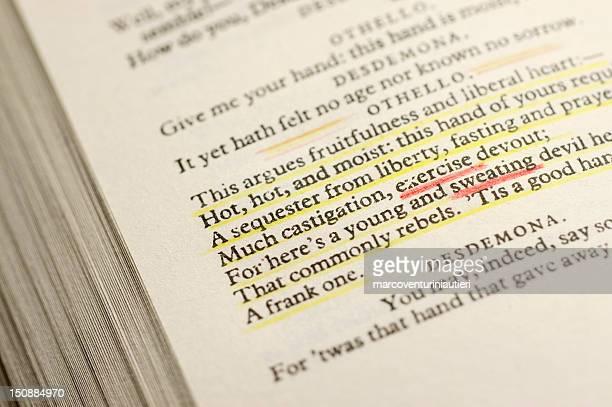 Exercício de Shakespeare e sudação