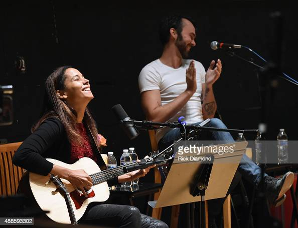 Shakey Graves assists Rhiannon Giddens with her Kazoo during 16th Annual Americana Music Festival Conference Day 2 NPR hosts 'SONGS WE LOVE at RCA...