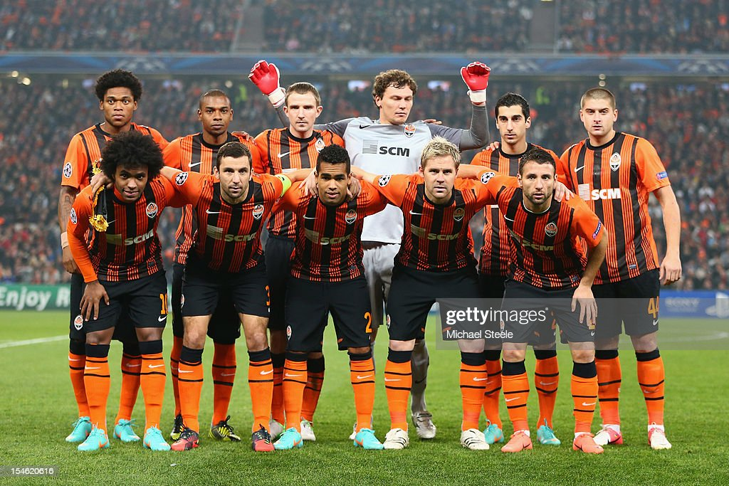 Shakhtar Donetsk team group during the UEFA Champions League Group E match between Shakhtar Donetsk and Chelsea at the Donbass Arena on October 23, 2012 in Donetsk, Ukraine.