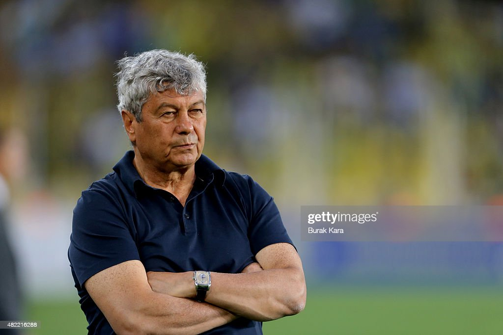 Shakhtar Donetsk's coach <a gi-track='captionPersonalityLinkClicked' href=/galleries/search?phrase=Mircea+Lucescu&family=editorial&specificpeople=5511022 ng-click='$event.stopPropagation()'>Mircea Lucescu</a> watches the match during UEFA Champions League Third Qualifying Round 1st Leg match betweeen Fenerbahce v Shakhtar Donetsk at Sukru Saracoglu Stadium on July 28, 2015 in Istanbul, Turkey.