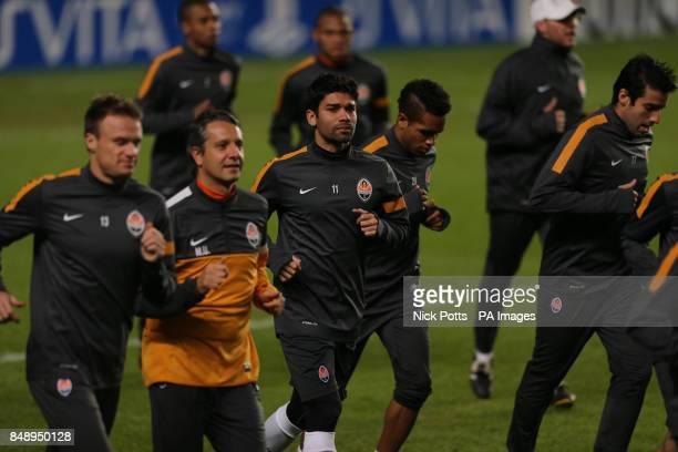 FC Shakhtar Donetsk's Eduardo during a training session at Stamford Bridge London