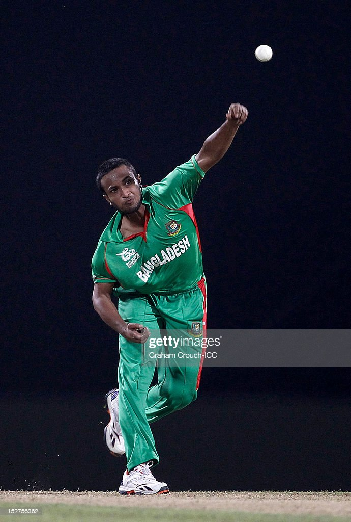 <a gi-track='captionPersonalityLinkClicked' href=/galleries/search?phrase=Shakib+Al+Hasan&family=editorial&specificpeople=4145971 ng-click='$event.stopPropagation()'>Shakib Al Hasan</a> of Bangladesh bowls during the Group D match between Pakistan and Bangladesh at Pallekele Cricket Stadium on September 25, 2012 in Kandy, Sri Lanka.