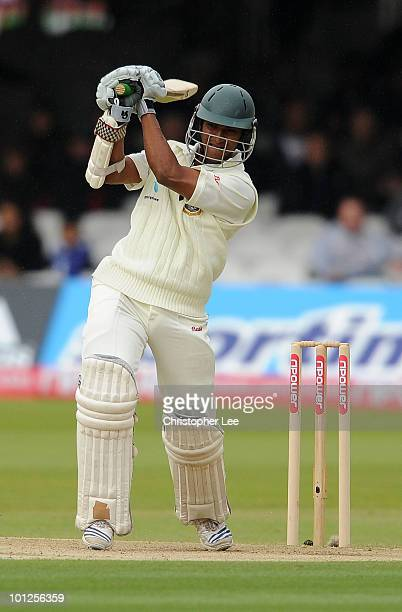 Shakib Al Hasan of Bangladesh in action during day 3 of the 1st npower Test match between England and Bangladesh at Lords on May 29 2010 in London...