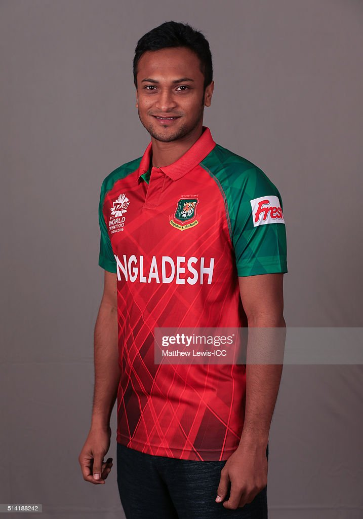 <a gi-track='captionPersonalityLinkClicked' href=/galleries/search?phrase=Shakib+Al+Hasan&family=editorial&specificpeople=4145971 ng-click='$event.stopPropagation()'>Shakib Al Hasan</a> of Bangladesh pictured during a Headshot session ahead of the ICC Twenty20 World Cup on March 7, 2016 in Dharamsala, India.