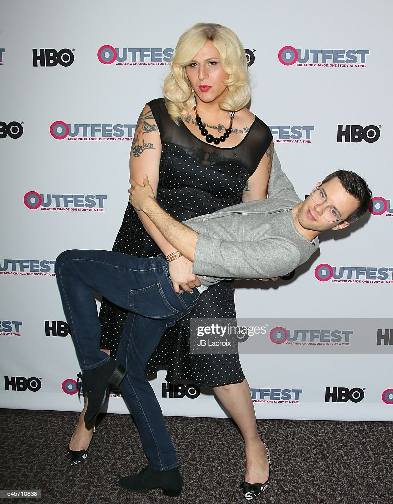 Shakina Nayfack and Cole Escola attend the Outfest 2016 premiere of 'Difficult People' season 2 on July 9 2016 in West Hollywood California