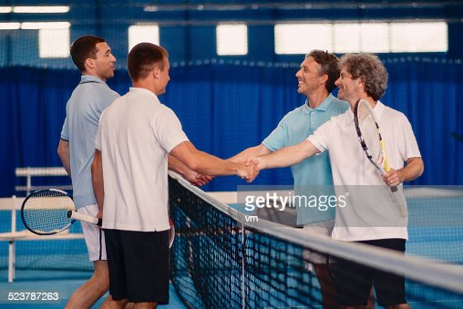 Shaking Hands After Tennis Match