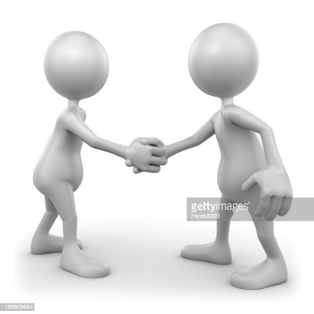 Shaking hands, isolated with clipping path