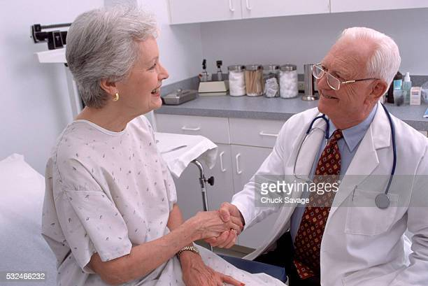 Shaking hands with doctor