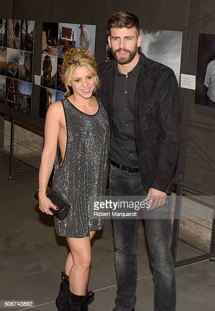 Shakira and Gerard Pique attend the 'Festa De Esport Catala 2016 awards' on January 25 2016 in Barcelona Spain