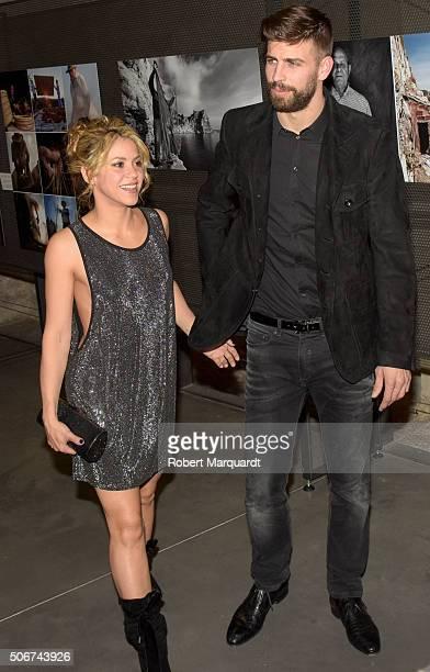 Shakira and Gerard Pique attend the 'Festa De Esport Catala 2016 awards' on January 25 2016 in Barcelona Spain