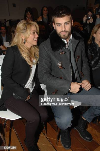 Shakira and Gerard Pique attend the launching of 'Dos Vidas' book written by Joan Pique on November 17 2011 in Barcelona Spain