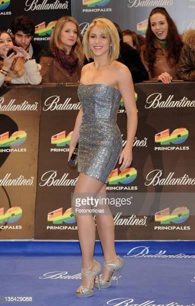Shakira arrives to the '40 Principales Awards' 2011 at the Palacio de Deportes on December 9 2011 in Madrid Spain