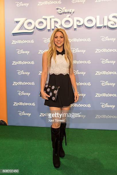 Shakira attends 'Zootropolis' premiere at Cinesa Diagonalon February 3 2016 in Barcelona Spain