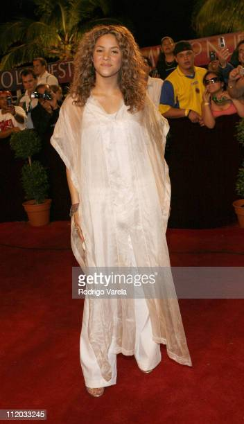 Shakira during 2006 Premio Lo Nuestro Red Carpet Arrivals at American Airlines Arena in Miami Florida United States