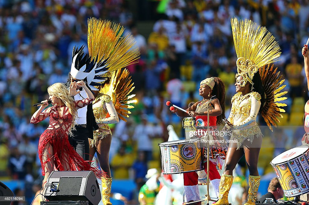 Shakira during closing ceremony prior to the 2014 FIFA World Cup Brazil Final match between Germany and Argentina at Maracana on July 13, 2014 in Rio de Janeiro, Brazil.Ê