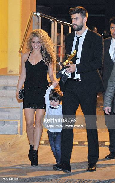 Shakira Gerard Pique and their son Milan Pique attend the Catalonian Football Federation Award to Gerard Pique as Best Catalonian football player on...