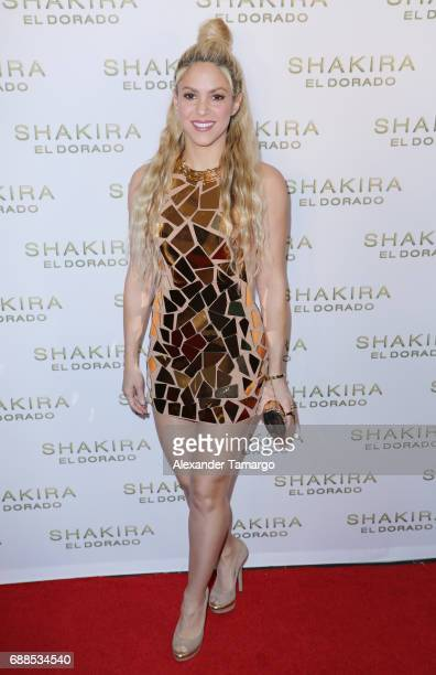 Shakira is seen at her 'El Dorado' Album Release Party at The Temple House on May 25 2017 in Miami Florida