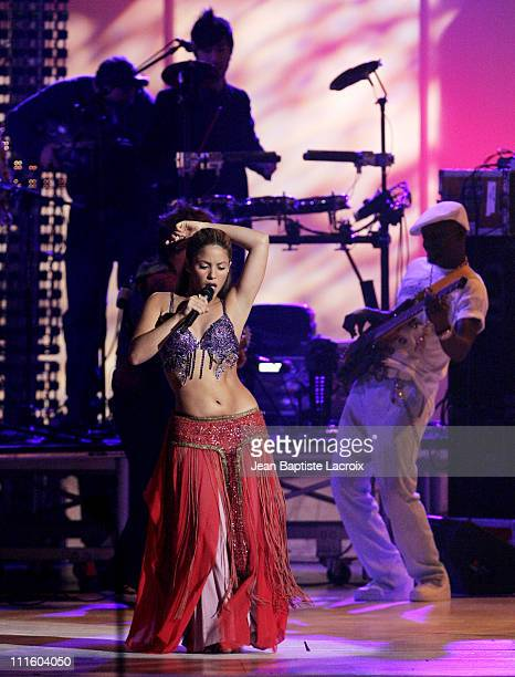 Shakira performs 'My Hips Don't Lie' during 2006 Billboard Latin Music Conference and Awards Show at Seminole Hard Rock Hotel and Casino in Hollywood...