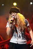 Shakira performs 'No Hay Nadie Como Tu' Rene Perez of Calle 13 at Coliseo Jose M Agrelot on May 2 2009 in San Juan Puerto Rico