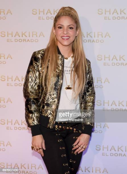 Shakira presents her new album 'El Dorado' at the Convent of Angels on June 8 2017 in Barcelona Spain