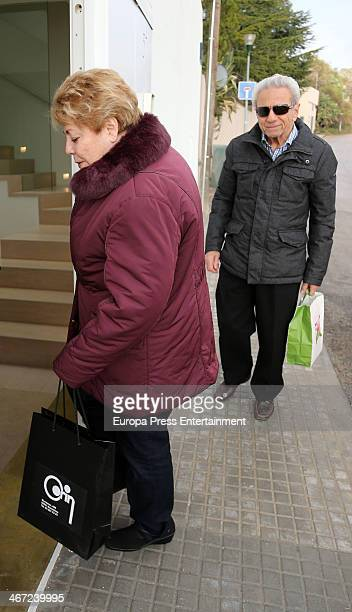 Shakira's parents Nidia Ripoll and William Mebarak are seen arriving to Shakira and Gerard Pique's birthday party on February 1 2014 in Barcelona...