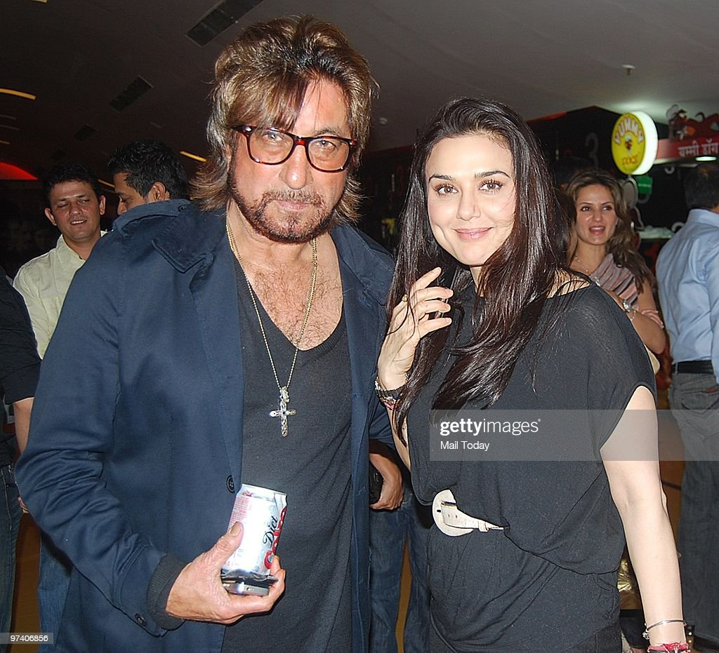 Shakti Kapoor with <a gi-track='captionPersonalityLinkClicked' href=/galleries/search?phrase=Preity+Zinta&family=editorial&specificpeople=630257 ng-click='$event.stopPropagation()'>Preity Zinta</a> at the special screening of Teen Patti in Mumbai on February 25, 2010.