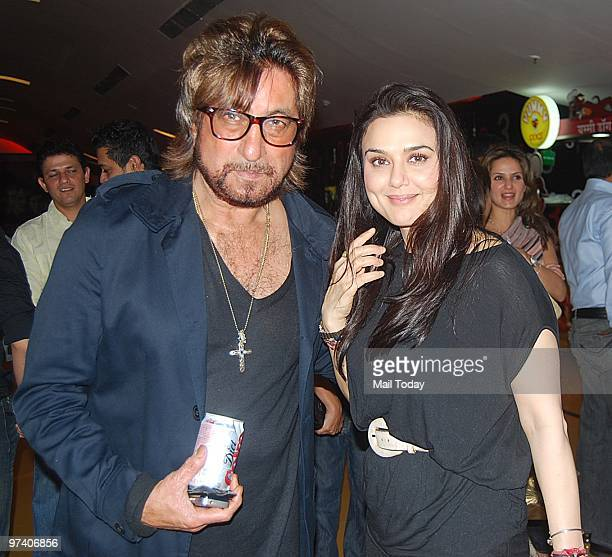 Shakti Kapoor with Preity Zinta at the special screening of Teen Patti in Mumbai on February 25 2010