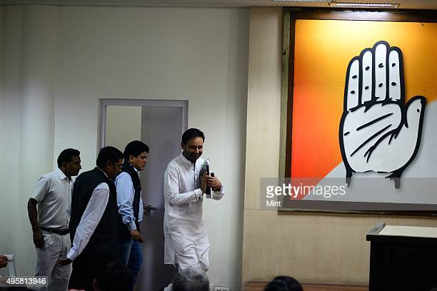 Shaktisinh Gohil member of the Indian National Congress during a press conference on March 21 2014 in New Delhi India