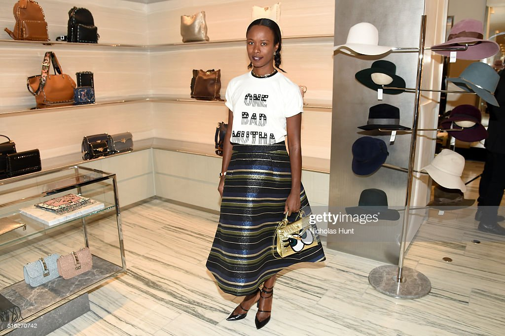 Shala Monroque attends as Barneys New York celebrates its new downtown flagship in New York City on March 17, 2016 in New York City.