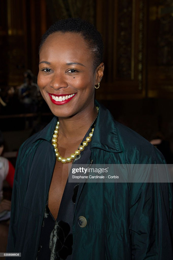 Shala Monroque attends Stella McCartney show, as part of the Paris Fashion Week Womenswear Spring/Summer 2014, at the Opera Garnier in Paris.