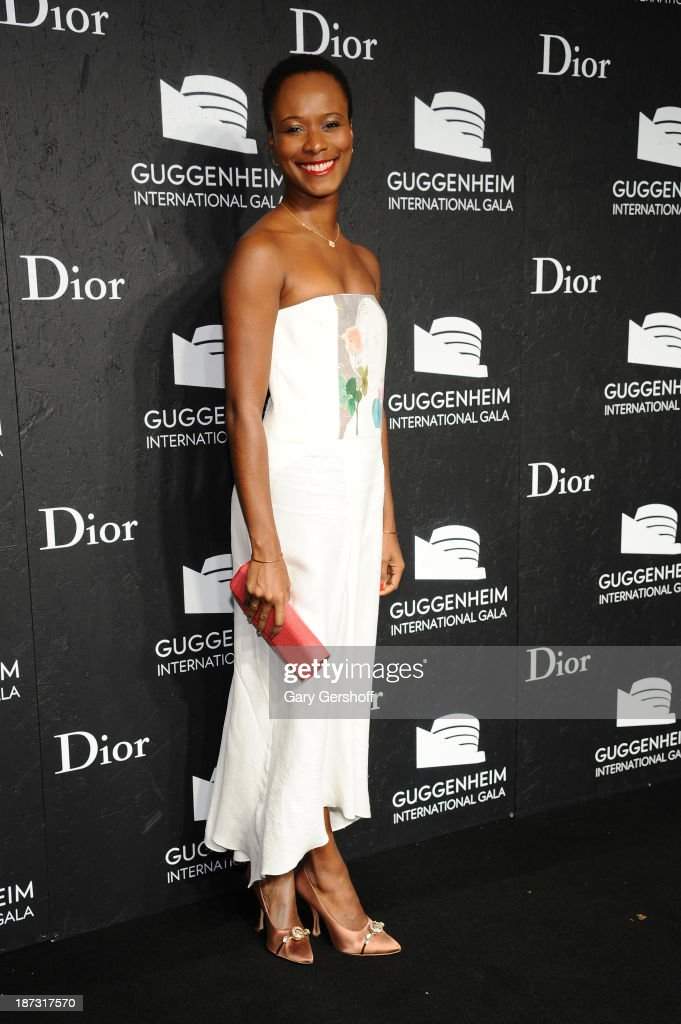 Shala Monroque attends the Guggenheim International Gala, made possible by Dior, at the Guggenheim Museum on November 7, 2013 in New York City.