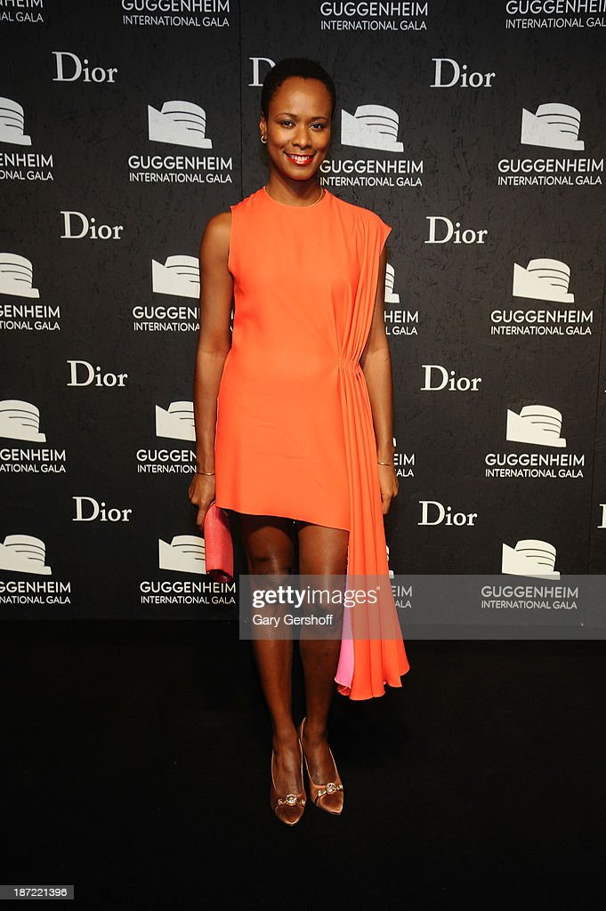 Shala Monroque attends the Guggenheim International Gala, made possible by Dior, Pre-party hosted by The Young Collector's Council at the Guggenheim Museum on November 6, 2013 in New York City.