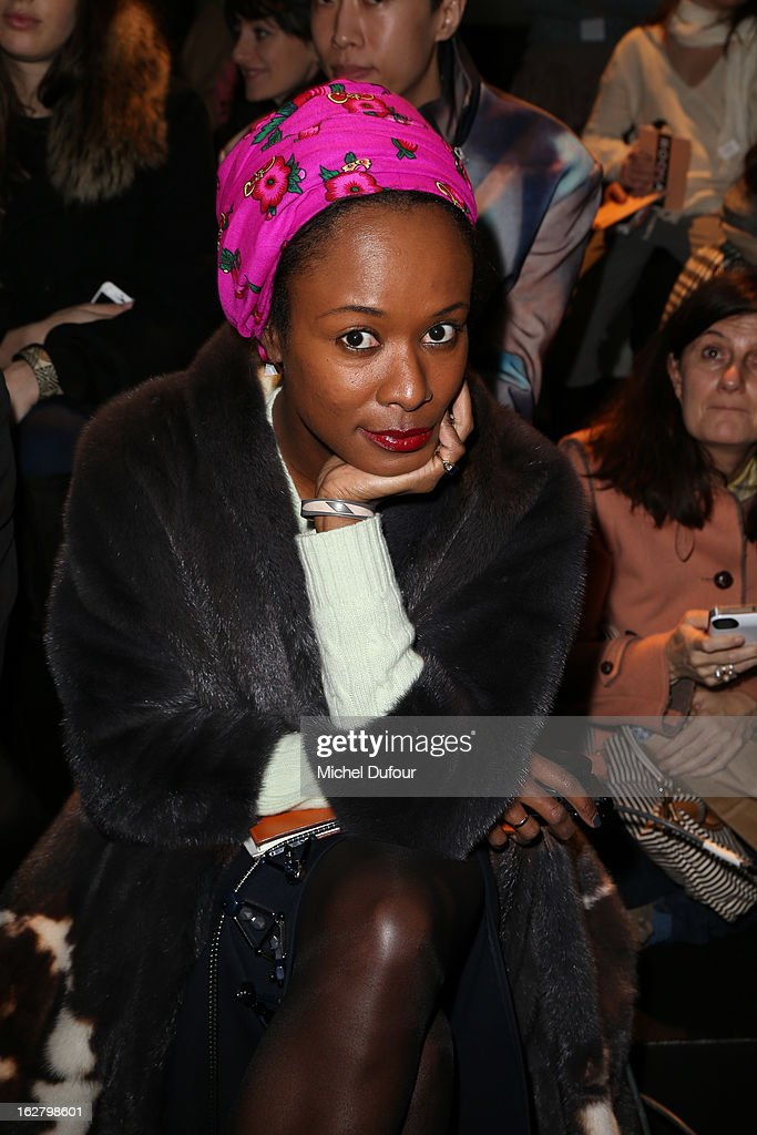 Shala Monroque attends the Rochas Fall/Winter 2013 Ready-to-Wear show as part of Paris Fashion Week on February 27, 2013 in Paris, France.