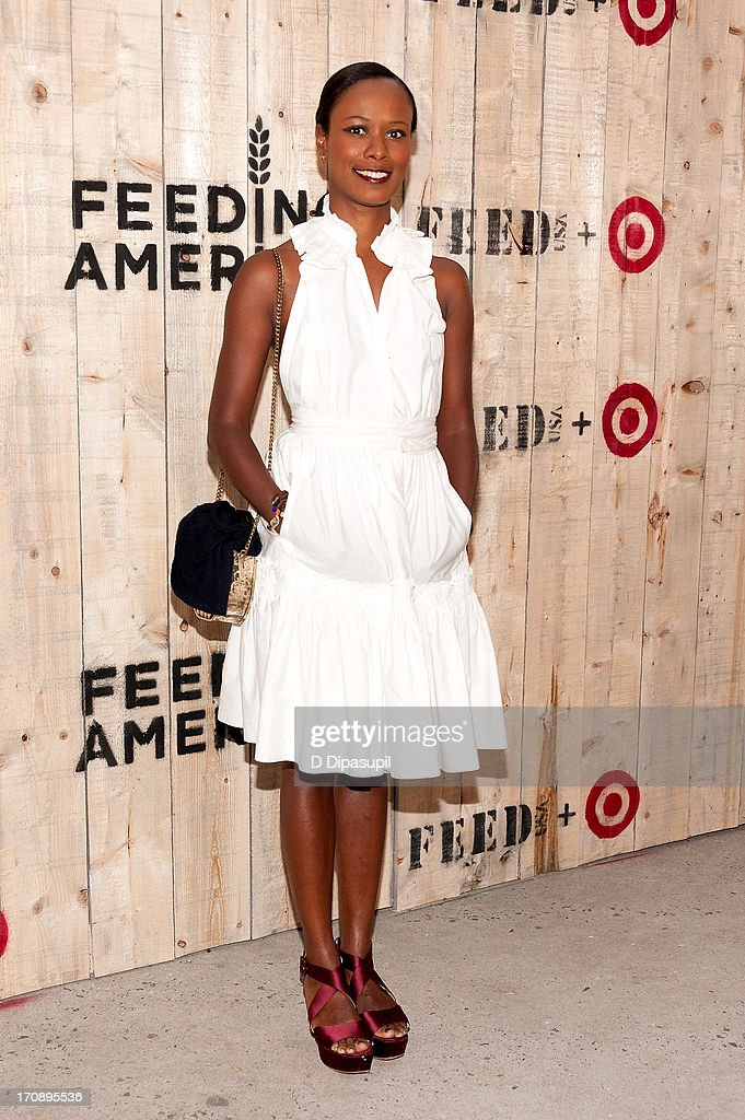 Shala Monroque attends the Target FEED Collaboration launch at Brooklyn Bridge Park on June 19, 2013 in New York City.