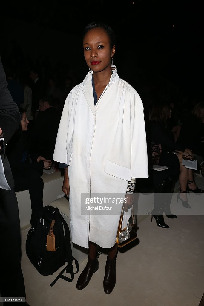 Shala Monroque attends the Valentino Fall/Winter 2013 Ready-to-Wear show as part of Paris Fashion Week on March 5, 2013 in Paris, France.