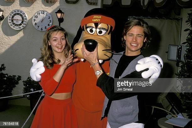 Shalane McCall Goofy and Brad Pitt