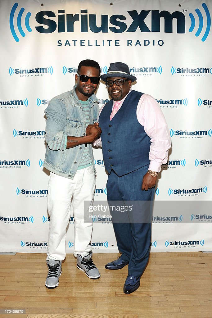 Shaliek (L) and Cedric the Entertainer visit SiriusXM Studios on June 13, 2013 in New York City.
