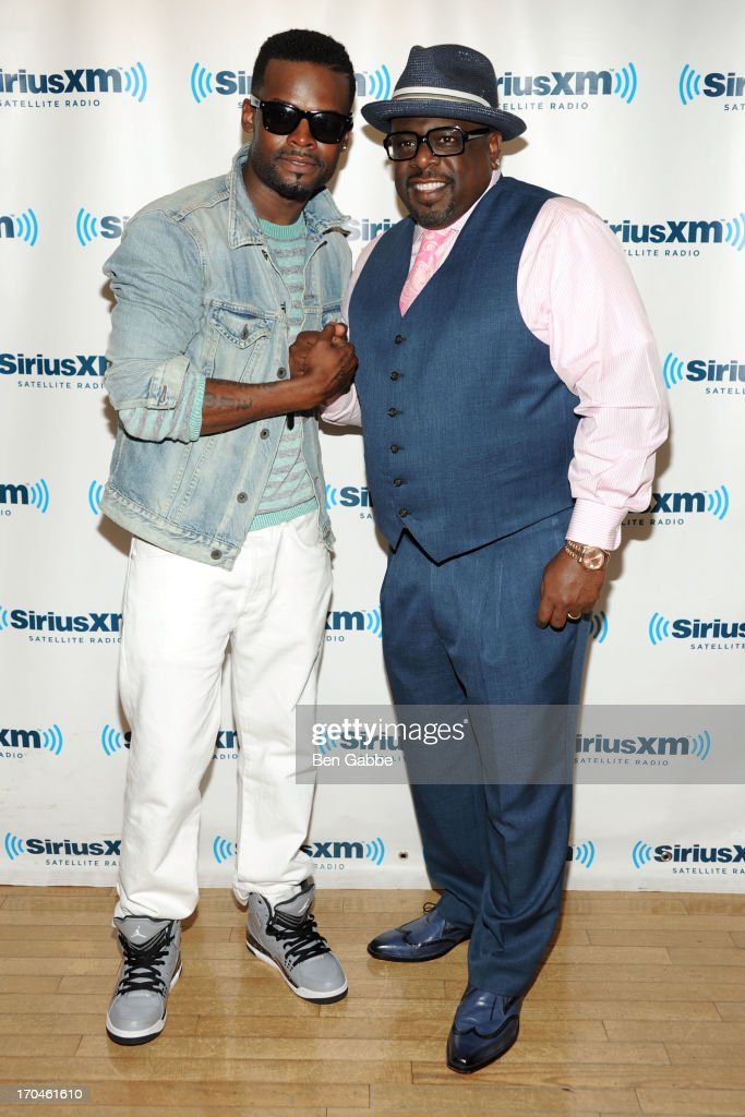 Shaliek (L) and <a gi-track='captionPersonalityLinkClicked' href=/galleries/search?phrase=Cedric+the+Entertainer&family=editorial&specificpeople=210583 ng-click='$event.stopPropagation()'>Cedric the Entertainer</a> visit SiriusXM Studios on June 13, 2013 in New York City.
