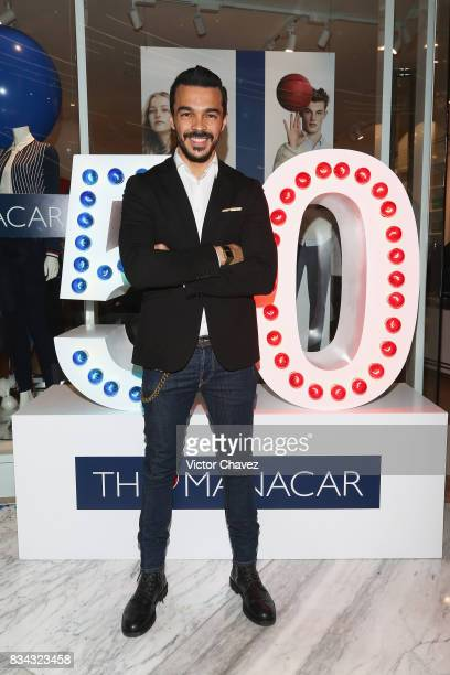 Shalim Ortiz attends the Tommy Hilfiger Mexico City store opening at Torre Manacar on August 17 2017 in Mexico City Mexico