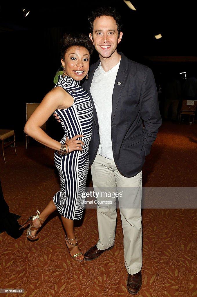 Shalita Grant and Santino Fontana attend the 2013 Tony Awards Meet The Nominees Press Reception on May 1, 2013 in New York City.