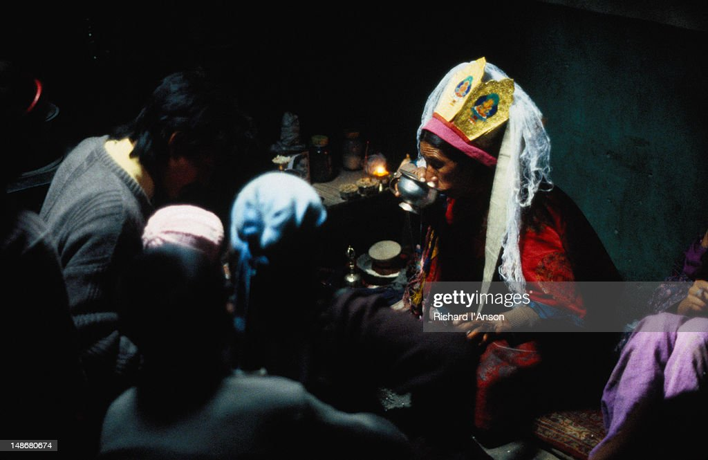 A Shaman from the village of Sabu sees local villagers requiring medical attention.