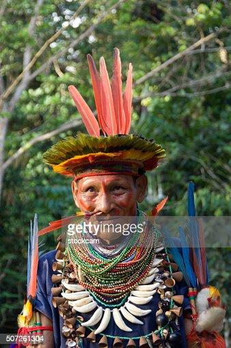 Shaman in Ecuador Rainforest