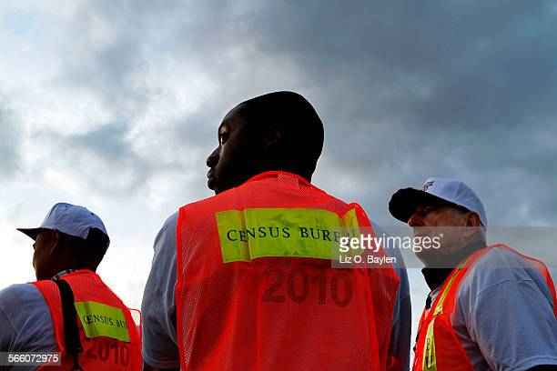 Shamar Drew of LA and David Brown of LA say working as enumerators for the Census is something fun to do and it also allows them to make a little...