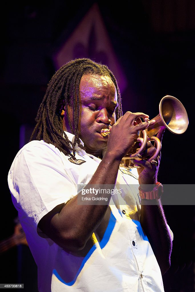 Shamarr Allen performs at Tipitina's on August 16, 2014 in New Orleans, Louisiana.