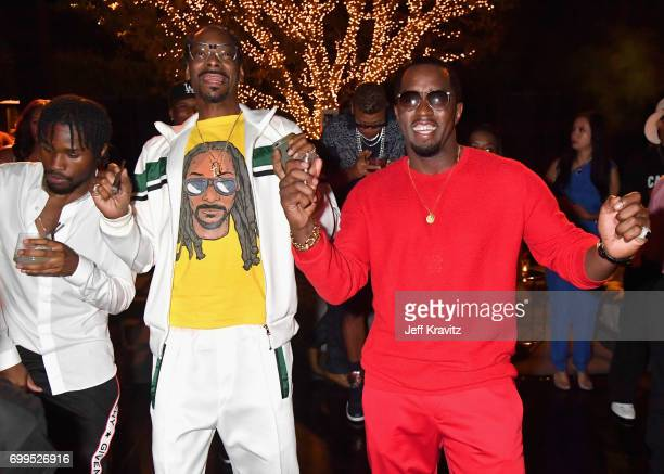 Shameik Moore and Snoop Dogg toast to Sean 'Diddy' Combs and the world premiere of Can't Stop Won't Stop at the official after party powered by CIROC...