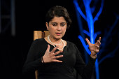 Shami Chakrabarti former director of Liberty the British civil liberties advocacy organization during the 2016 Hay Festival on May 28 2016 in...