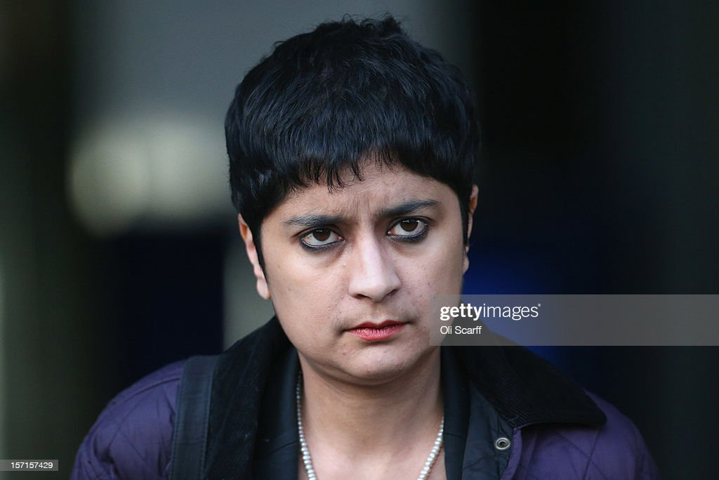Shami Chakrabarti the director of Liberty leaves the Queen Elizabeth II conference centre following the publishing of the Leveson Inquiry on November...