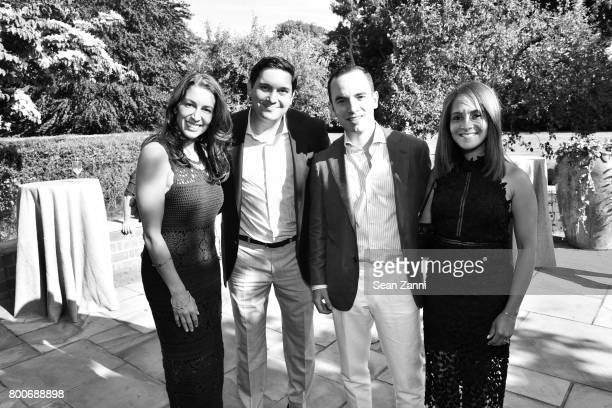 Shamin Abas Chris Montero Robert Butler and Elise Reid attend Maison Gerard Presents Marino di Teana A Lifetime of Passion and Expression at Michael...