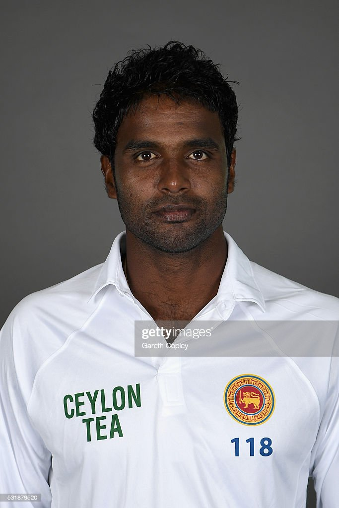<a gi-track='captionPersonalityLinkClicked' href=/galleries/search?phrase=Shaminda+Eranga&family=editorial&specificpeople=8049726 ng-click='$event.stopPropagation()'>Shaminda Eranga</a> of Sri Lanka poses for a portrait at Headingley on May 17, 2016 in Leeds, England.