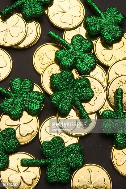 Shamrocks and Gold Coins